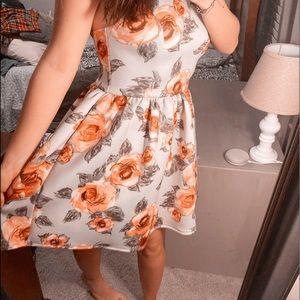 Soft Beautiful Floral Formal and Elegant Dress